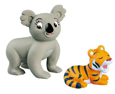 Livre 31 : Le Koala + La maman koala + le bébé tigre
