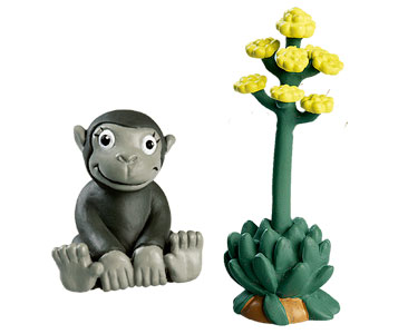 Le livret 36 : Le Flamant rose + la plante d'agave + le bébé gorille