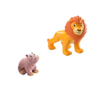 Le Livret 1 : Le Lion + Le papa lion + Le bébé hippopotame