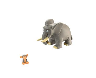 Le Livret 3 : L'Éléphant + Le papa éléphant + Le bébé chimpanzé