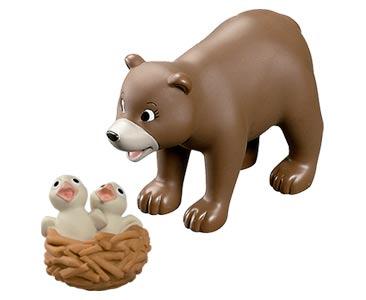 Le livret 61 : L'Ours - La maman ours + les bébés faucons