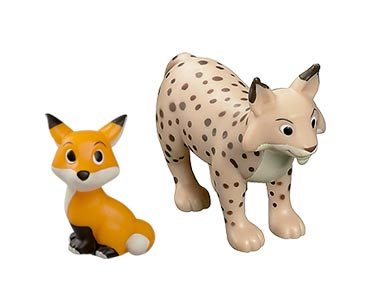 Le livret 64 : Le Lynx + Le papa lynx + Le bébé renard