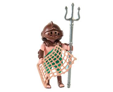 Le livret 12 : Les gladiateurs romains + 2 Fiches de jeu + Figurine