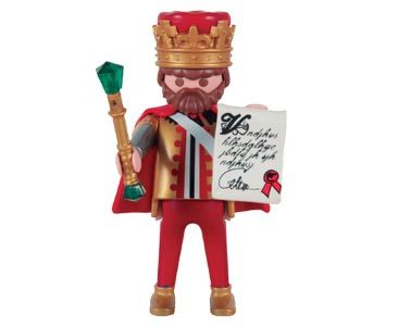 Le livret 56 : Un roi médiéval + 2 Fiches de jeu + Figurine