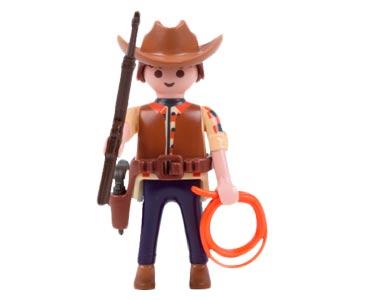 Le livret 15 : Les cowboys des grandes prairies + 2 Fiches de jeu + Figurine