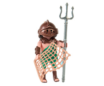 Le livret 13 : Les gladiateurs romains + 2 Fiches de jeu + Figurine