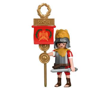 Le livret 2 : Les légionnaires romains + 2 Fiches de jeu + Figurine