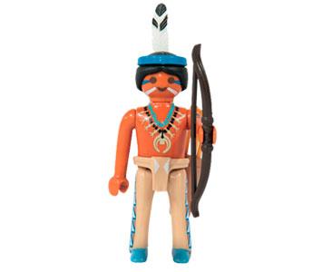 Le livret 46 : Les Indiens apaches + 2 Fiches de jeu + Figurine