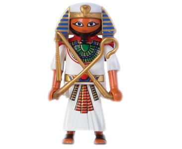 Le livret 4 : Les pharaons d'E?gypte + 2 Fiches de jeu + Figurine