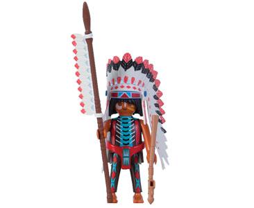 Le livret 9 : Les Indiens Sioux + 2 Fiches de jeu + Figurine