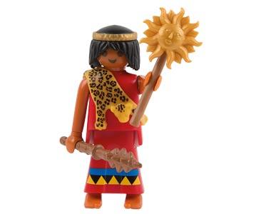 Le livret 33 : Les Aztèques + 2 Fiches de jeu + Figurine