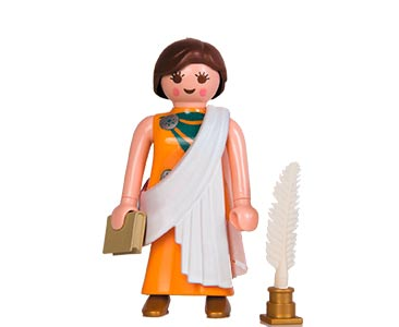 Le livret 63 : Dans la bibliothèque d'Alexandrie + 2 Fiches de jeu + Figurine
