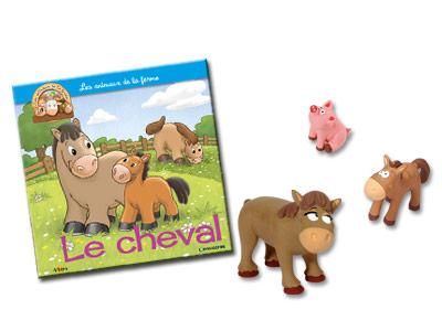 """Le livret """"Le cheval'' + miniatures"""