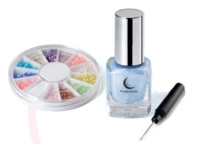 Fascicule 9 + Le vernis bleu effet soie + Le carrousel de perles + L'applicateur