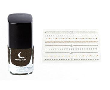 Fascicule 16 + Vernis ocre satiné + Stickers pour doigts et ongles