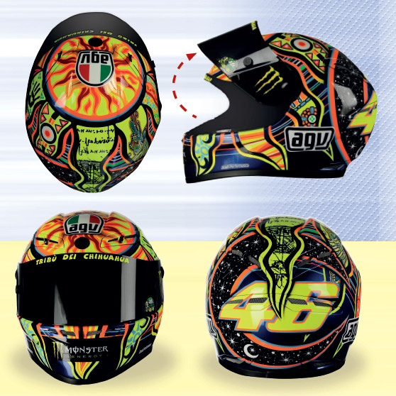 Os melhores capacetes da MotoGP™ em escala 1/5