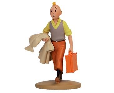 Livro + Figura + Passaporte: TINTIN com a mala