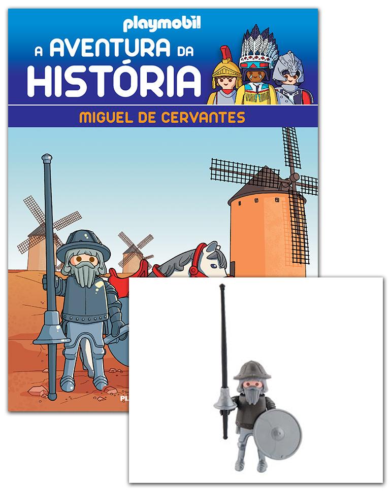 06/02/2019 (Cervantes, o príncipe do talento + 2 cartas + Figura)