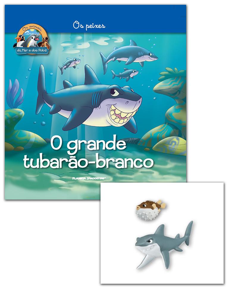 07/03/2018 (Livro + Conjunto de Figuras: Papá Tubarão + Papá peixe Balão)