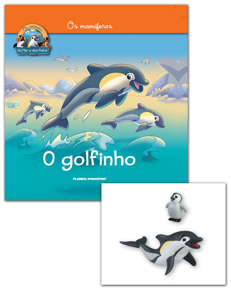 Livro + Conjunto de Figuras: Bebé Pinguim imperador + Papá Golfinho