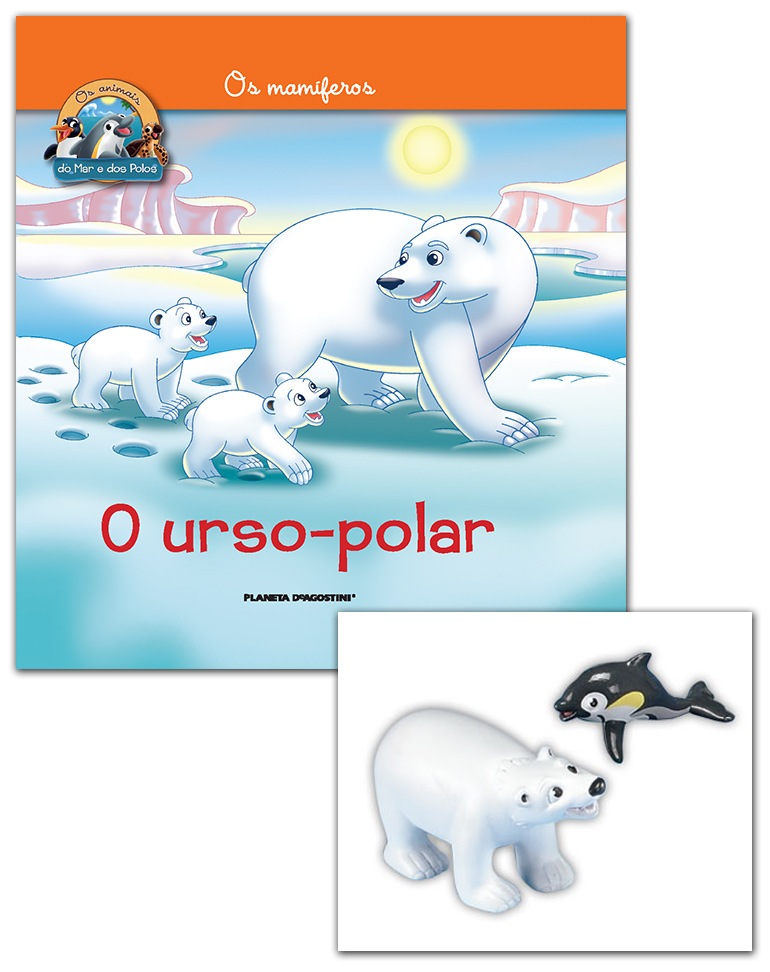 Livro + Conjunto de Figuras: Papá Urso Polar + Golfinho Bebé