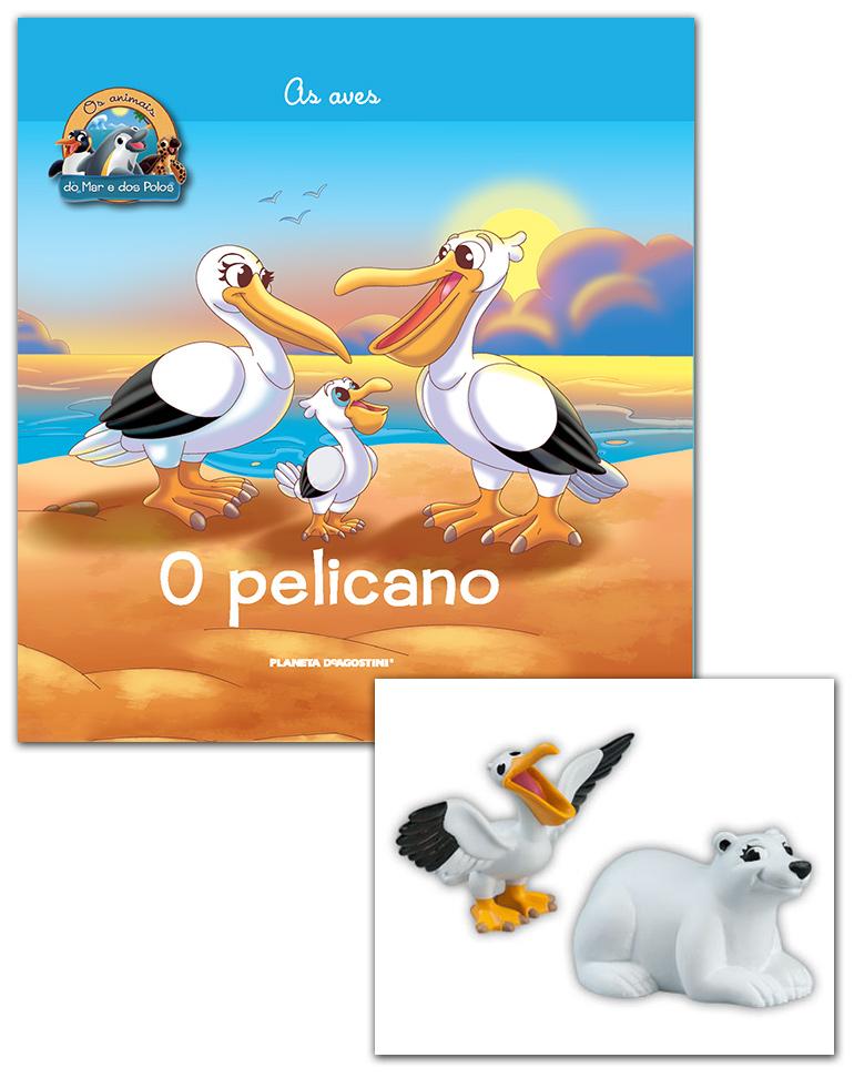 Livro + Conjunto de Figuras: Papá Pelicano + Mamã Urso Polar