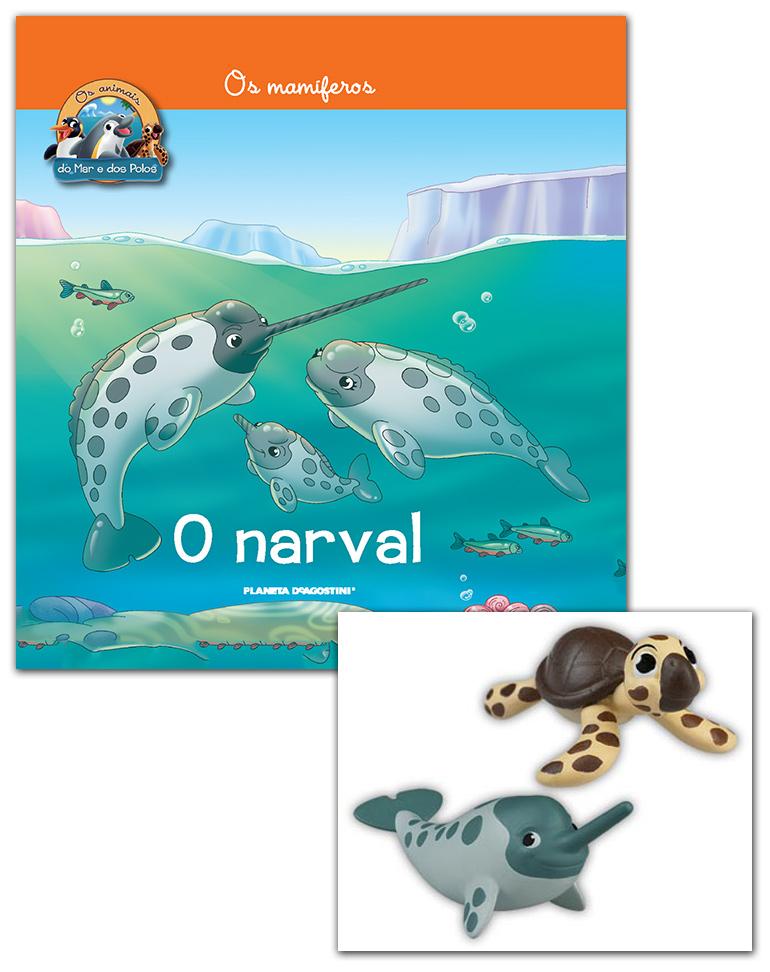 Livro + Conjunto de Figuras: Papá Narval + Bebé Tartaruga