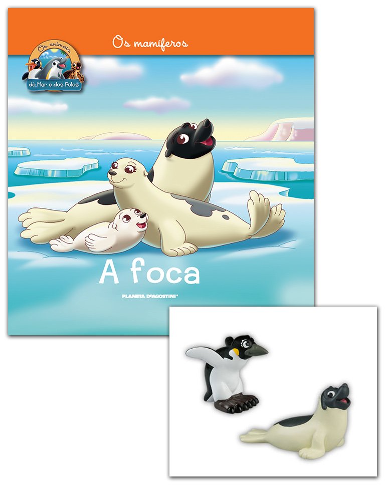 Livro + Conjunto de Figuras: Papá Foca + Mamã Pinguim
