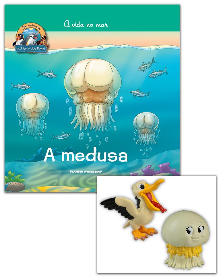 04/07/2018 (Livro + Conjunto de Figuras: Mamã Medusa + Pelicano Bebé)
