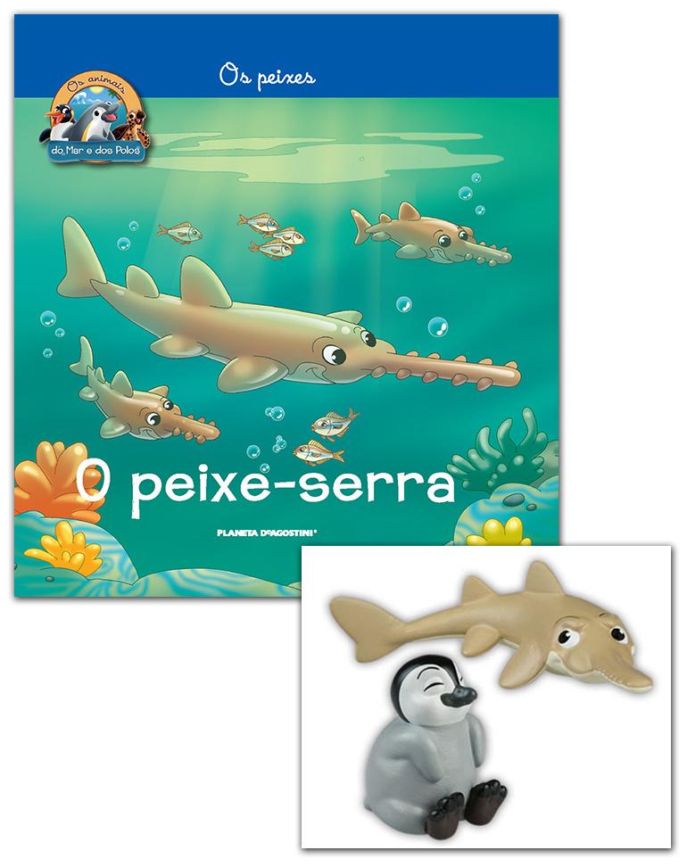 Livro + Conjunto de Figuras: Papá Peixe-serra + Pinguim Bebé