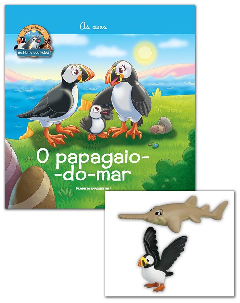 Livro + Conjunto de Figuras: Papá Papagaio-do-mar + Mamã Peixe-serra