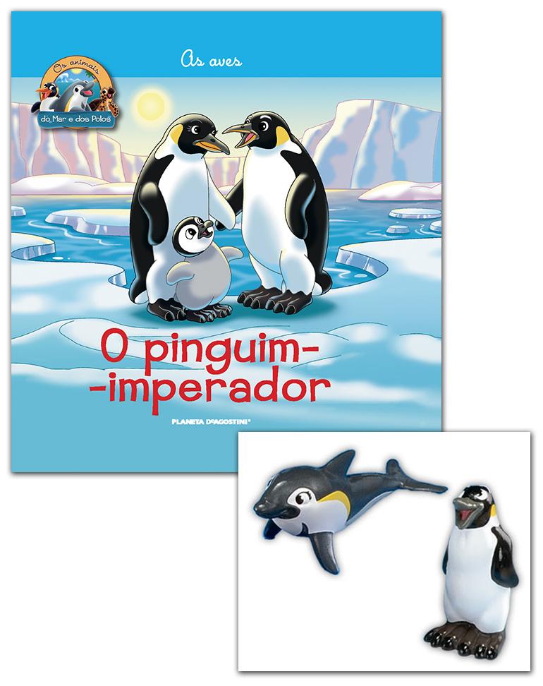 Livro + Conjunto de Figuras: Papá Pinguim-Imperador + Mamã Golfinho