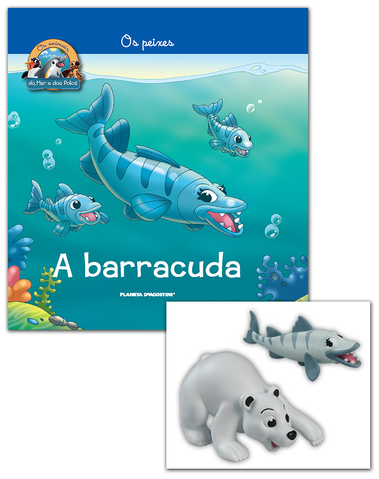 Livro + Conjunto de Figuras: Bebé Urso Polar + Mamã Barracuda