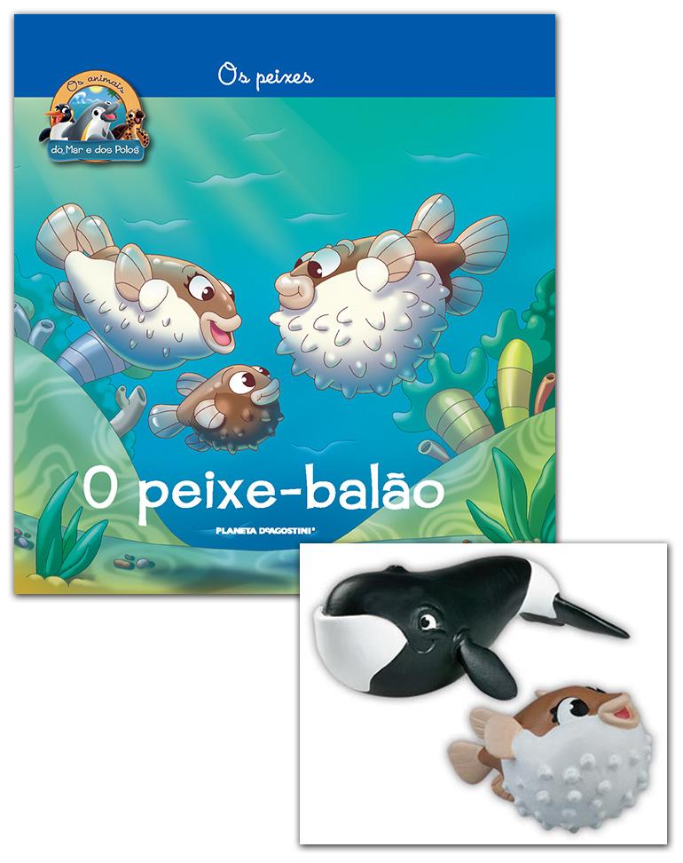 05/09/2018 (Livro + Conjunto de Figuras: Peixe-balão mamã + Baleia mamã da Gronelândia)