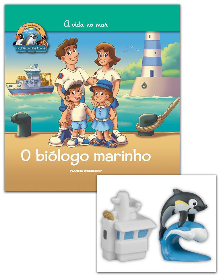 Livro + Conjunto de Figuras: Bebé Golfinho + Barco (Parte superior)