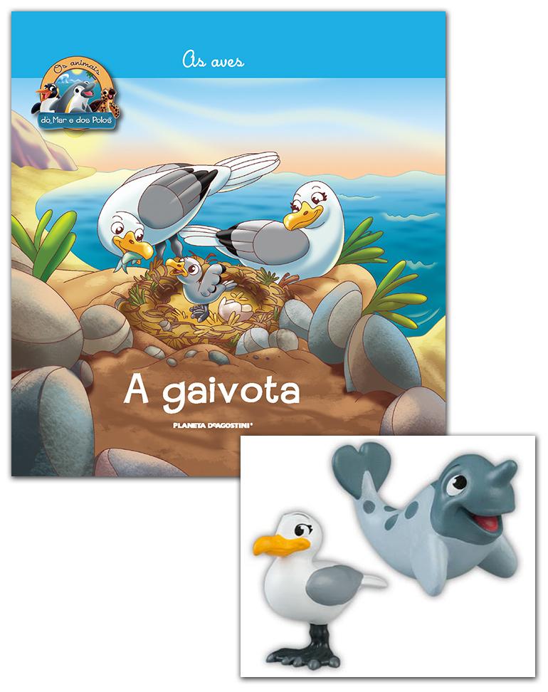 Livro + Conjunto de Figuras: Mamã Gaivota + Bebé Narval