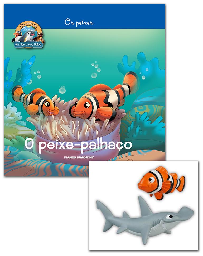 10/10/2018 (Livro + Conjunto de Figuras: Papá peixe-palhaço + Papá Tubarão-martelo)