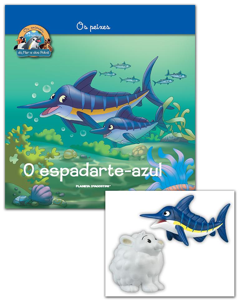 Livro + Conjunto de Figuras: Mamã Espadarte-azul + bebé lebre ártica