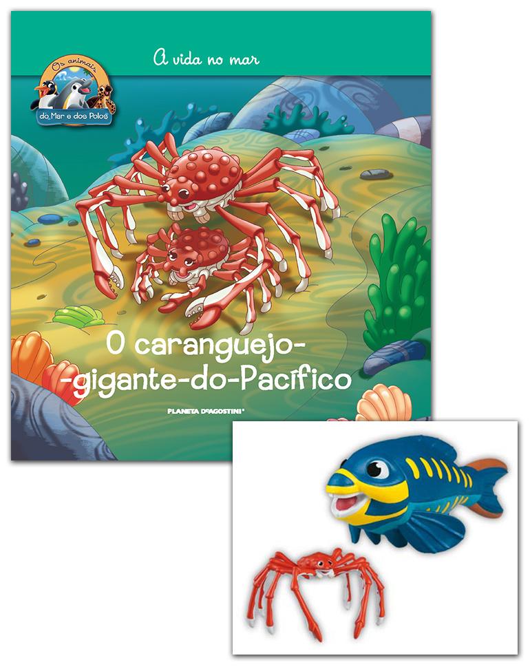 07/11/2018 (Livro + Conjunto de Figuras: Papá Caranguejo-gigante + Papá Peixe papagaio)