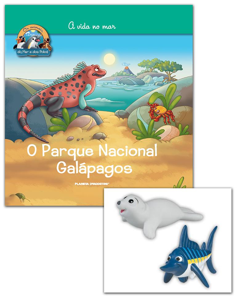 Livro + Conjunto de Figuras: Papá Merlin azul + Foca da Gronelândia bebé