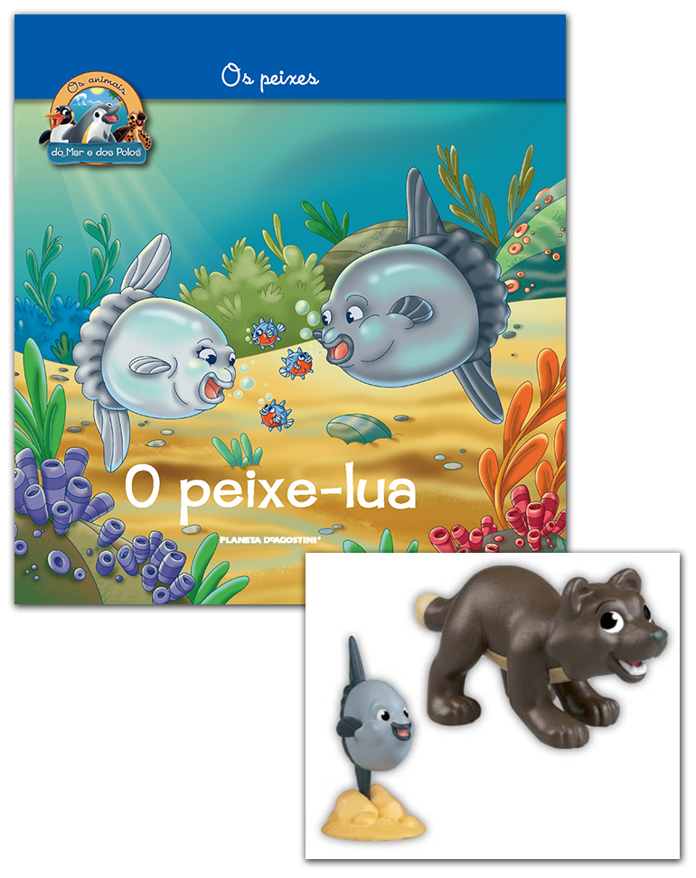 Livro + Conjunto de Figuras: Papá Peixe-lua + Raposa do Ártico bebé