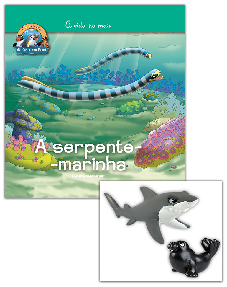 Livro + Conjunto de Figuras: Tubarão mamã + Morsa bebé