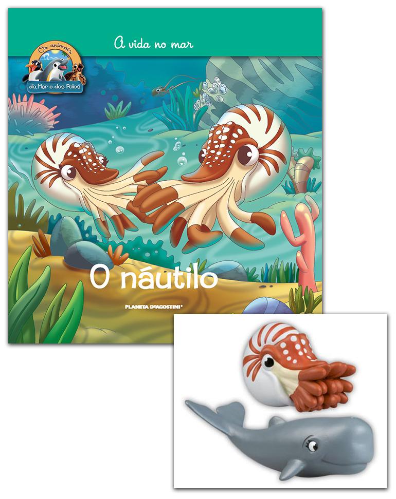 Livro + Conjunto de Figuras: Náutilo + Cachalote mamã