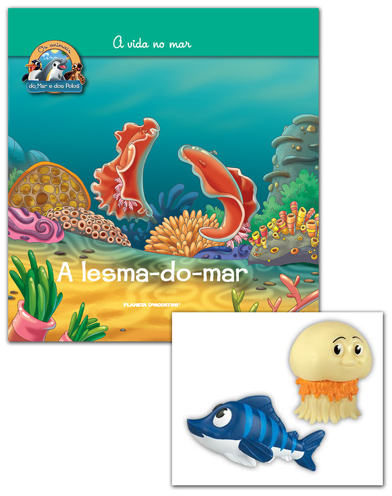 Livro + Conjunto de Figuras: Meduda papá + Peixe-espada azul bebé