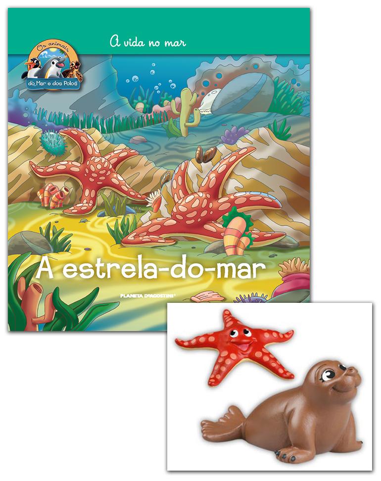 Livro + Conjunto de Figuras: Elefante marinho mamã + Estrela do mar