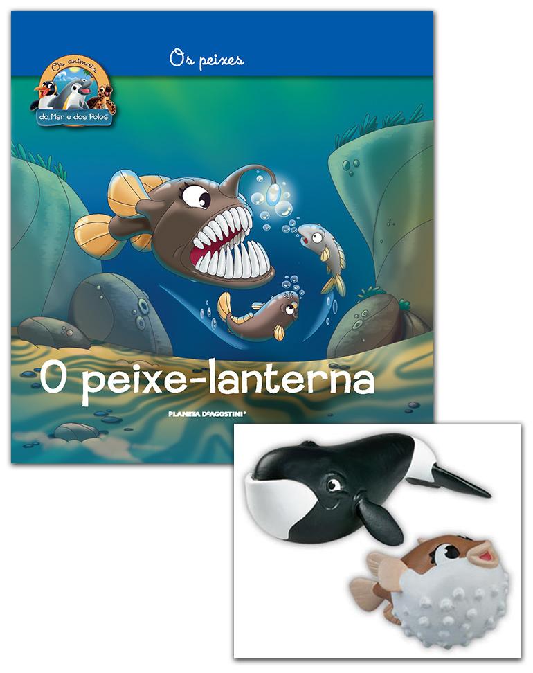 Livro + Conjunto de Figuras: Peixe balão mamã + Baleia da Gronelândia mamã