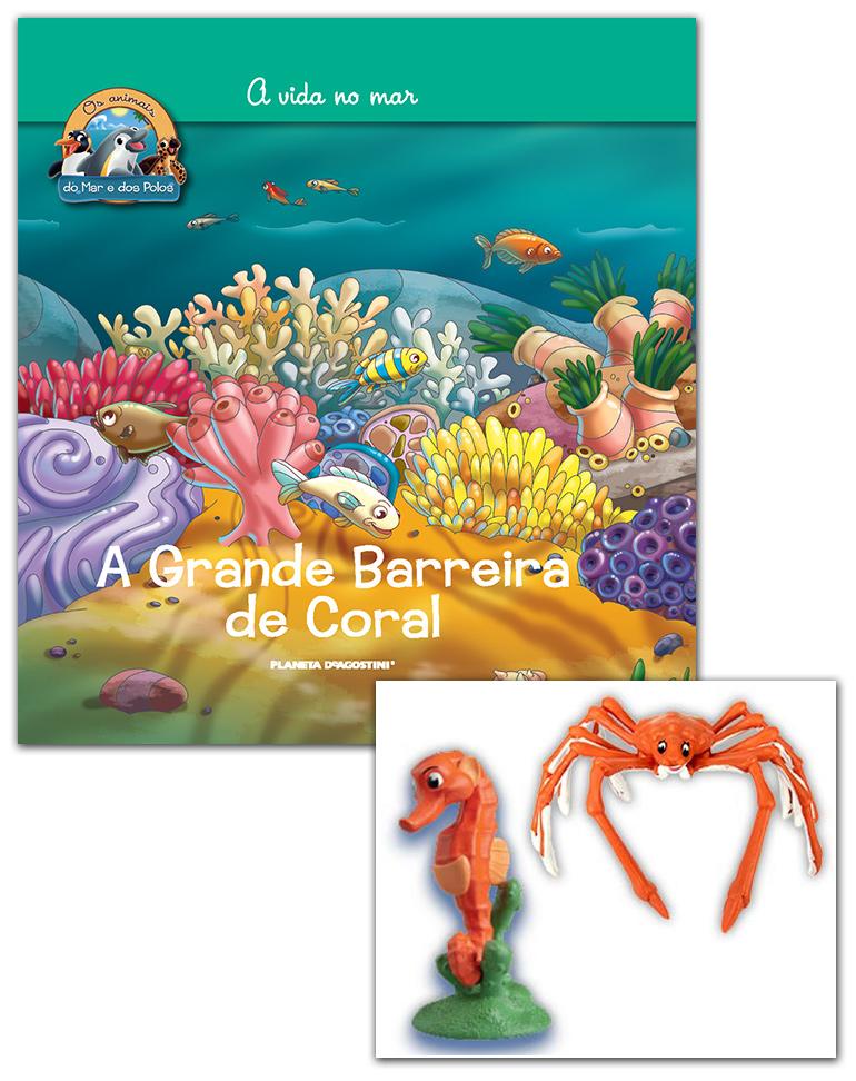 06/03/2019 (Livro + Conjunto de Figuras: Caranguejo gigante mamã + Cavalo-marinho papá)