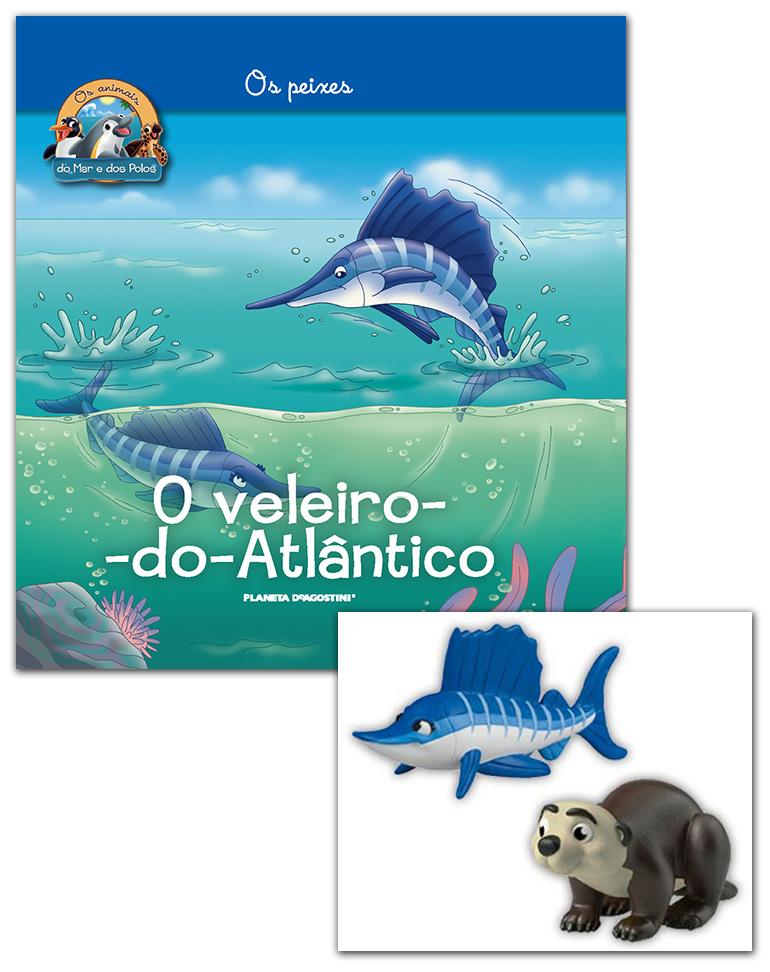 Livro + Conjunto de Figuras: Lontra marinha papá + Veleiro-do-Atlântico mamã