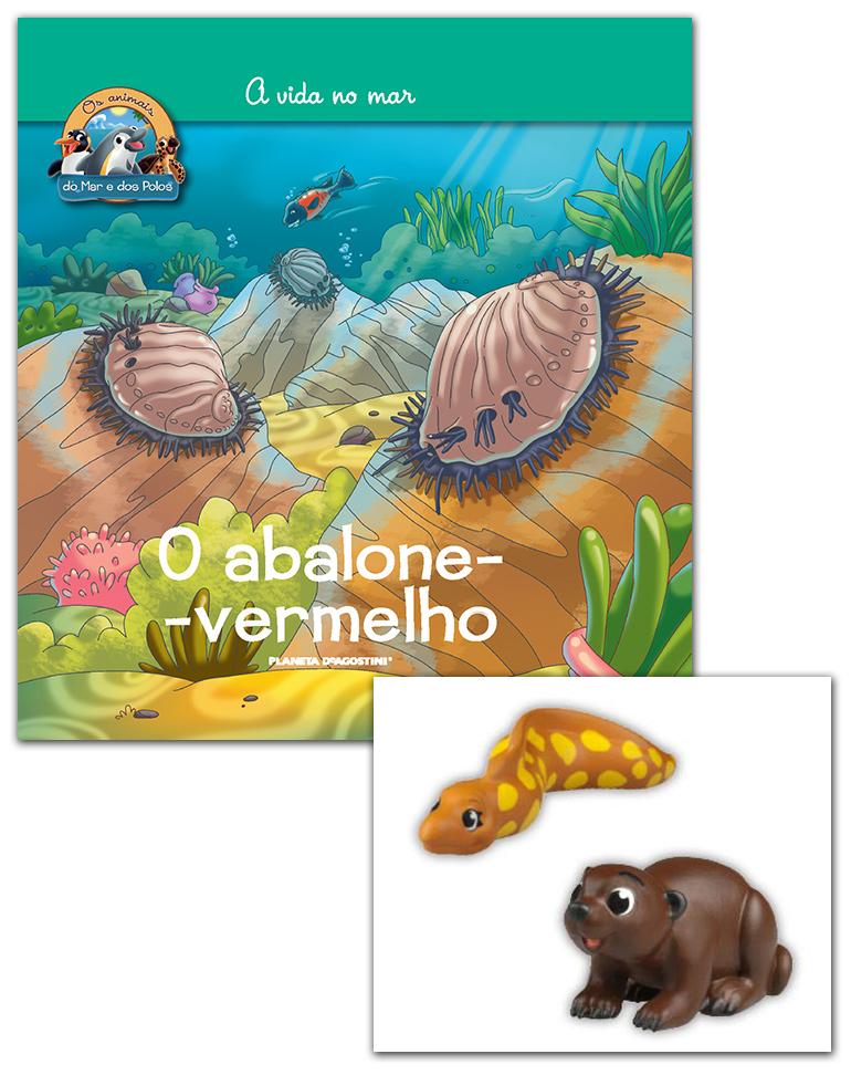 Livro + Conjunto de Figuras: Moreia do mediterrâneo mamá + Lontra marinha bebé