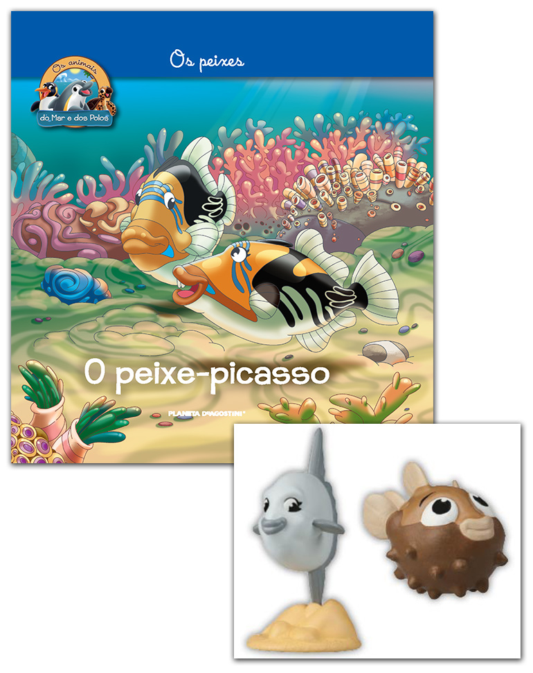 03/04/2019 (LIVRO + CONJUNTO DE FIGURAS: Peixe-balão bebé + Peixe-lua mamã)